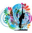 Drawing of man playing tennis vector image vector image