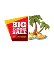 Emblems for big summer sales vector image vector image