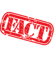 Fact stamp vector image vector image