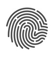 fingerprint line art icon crime and privacy vector image vector image