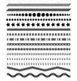 footer lines set page dividers design vector image