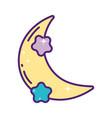 half moon stars decoration magic cartoon vector image vector image