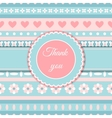 Heart and flower cute romantic card vector image