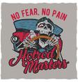 hotrod masters t-shirt label design vector image vector image