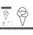 ice cream cone line icon vector image