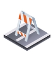 Isometric traffic barrier vector image vector image