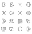 Lines icon set - communication vector image