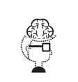man head and brain icon vector image vector image