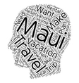 Maui Travel Arrangements You May Need To Make text vector image vector image