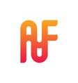 monogram logo design letter af vector image