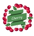 Nature background design with cherries vector image