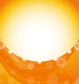 Orange background with swirl and light effects vector image vector image
