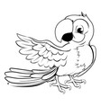 parrot pointing vector image