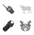 police animal and other monochrome icon in vector image