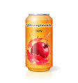 pomegranate fruits juice drink tin can vector image