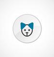 puppy icon 2 colored vector image vector image