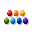 rainbow eggs happy easter symbols collection vector image