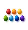 rainbow eggs happy easter symbols collection vector image vector image