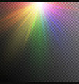 rainbow light effects vector image vector image