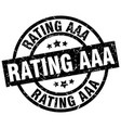 rating aaa round grunge black stamp vector image vector image