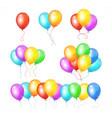 realistic balloon rainbow set vector image vector image