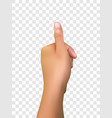 realistic thumbs up vector image