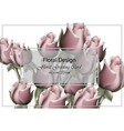 roses floral greeting card realistic vector image