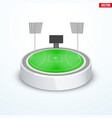 round australian rules football stadium vector image vector image