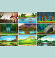 set nature background vector image vector image