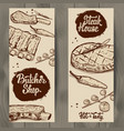 set of butcher shop and steak house flyers vector image