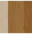 Set of different wooden boards with knots Wooden vector image vector image
