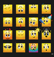 set of face icons vector image vector image