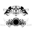 set of ornamental shields vector image