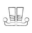 sketch draw jester boots cartoon vector image vector image