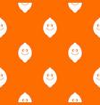 smiling lemon fruit pattern seamless vector image
