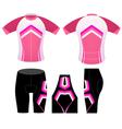 Sports cycling woman clothing vector image vector image