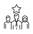 successful team line icon concept sign outline vector image vector image