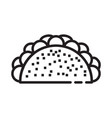 tacos food icon design sign vector image