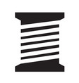 tailor thread bobbin icon symbol design vector image