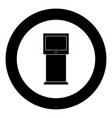 terminal stand with touch screen black icon in vector image vector image