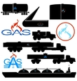 Transportation and storage of natural gas vector image vector image