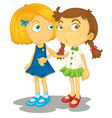 Two friends vector image vector image