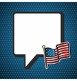 USA national speech bubble in blank and flag vector image vector image