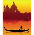 venetian gondola silhouette vector image