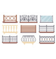 vintage and modern balcony railings set