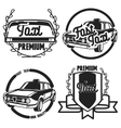 Vintage taxi emblems vector image