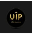 Vip invitation card vector image vector image