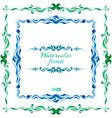 watercolor frames vector image vector image