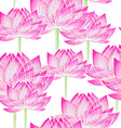 Watercolor Seamless floral pattern with lotus vector image vector image