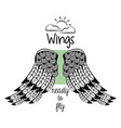 wings ready to fly vector image vector image